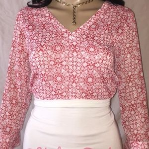 NWT The Limited pattern pullover blouse Sz S